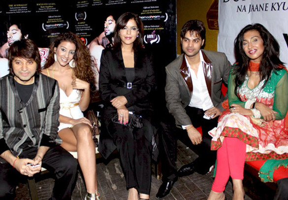 Photo Of Kapil Sharma,Jennifer Mayani,Zeenat Aman,Yuvraaj Parashar,Rituparna Sengupta From The Press conference of 'Dunno Y Na Jaane Kyun...'