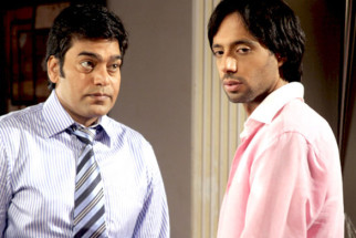 Movie Still From The Film A Strange Love Story,Ashutosh Rana,Eddie Seth