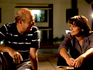 Movie Still From The Film Buddha In A Traffic Jam,Anupam Kher,Pallavi Joshi