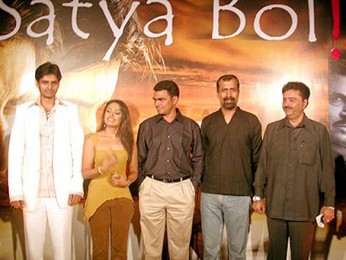Photo Of Tina Parekh,Sayaji Shinde,Aadesh Shrivastava From The Audio Launch Of Satya Bol