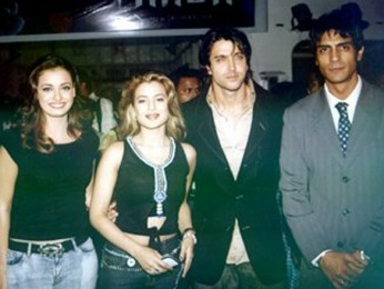 Photo Of Zayed Khan,Dia Mirza,Amisha Patel,Hrithik Roshan,Arjun Rampal From The Audio Launch Of Vaada