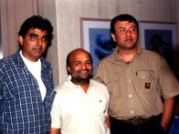 Photo Of Sameer,Anu Malik From The Audio Release Of Aaghaaz