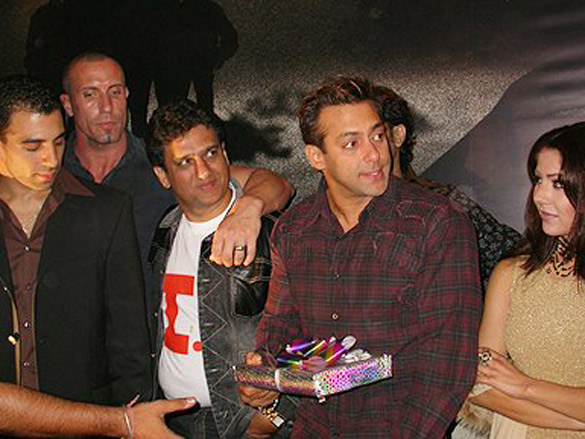 Photo Of Imran Ali Khan,Tim Lawrence,Dabbo Malik,Salman Khan From The Audio Release Of 'I - Proud To Be An Indian'