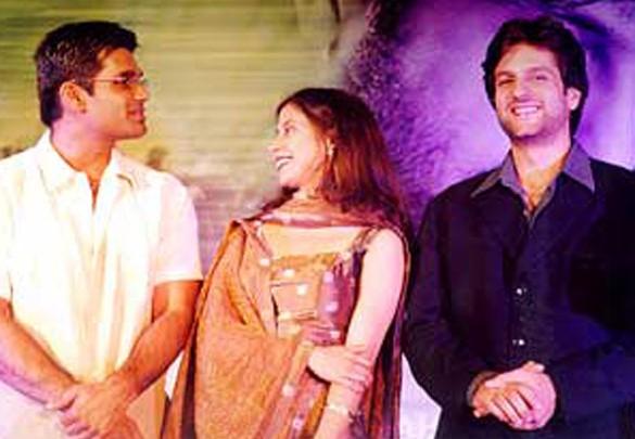 Photo Of Suniel Shetty,Urmila,Fardeen Khan  From The Audio Release Of Jungle