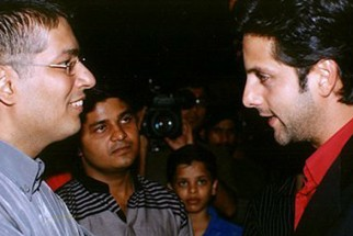 Photo Of Taran Adarsh,Fardeen Khan  From The Audio Release Of Kitne Door Kitne Paas