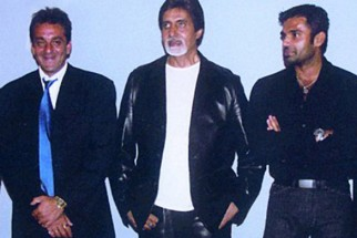 Photo Of Sanjay Dutt,Amitabh Bachchan,Suniel Shetty From The Kaante Movie Completion Party