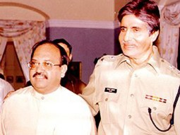 Photo Of Rajkumar Santoshi,Amar Singh,Amitabh Bachchan From The Launch Party Of Khakee