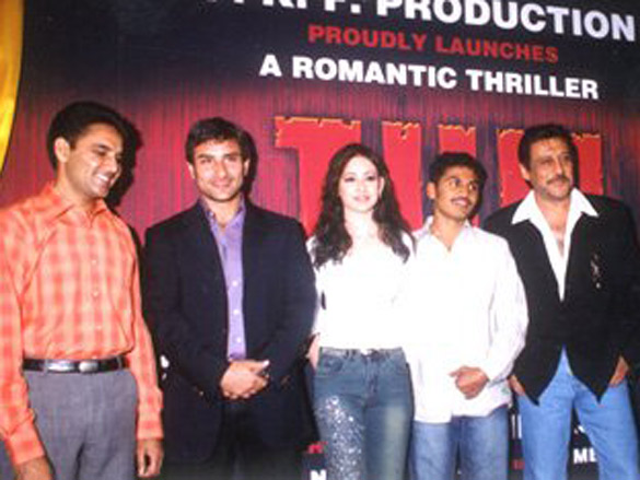 Photo Of Guddu,Saif Ali Khan,Preeti Jhangiani,E. Niwas,Jackie Shorff,Aftaab Shivdasani From The Mahurat Party Of Tum