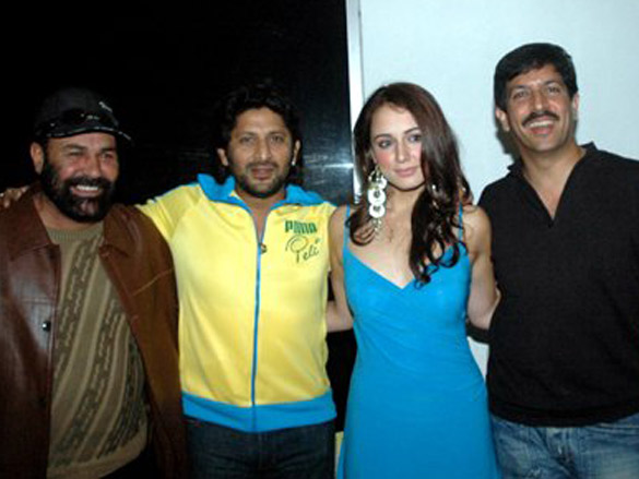 Photo Of Hanif Humghum,Arshad Warsi,Linda Arsenio,Kabir Khan From The Zee Music Launches John Abraham Unplugged Calendar 2007