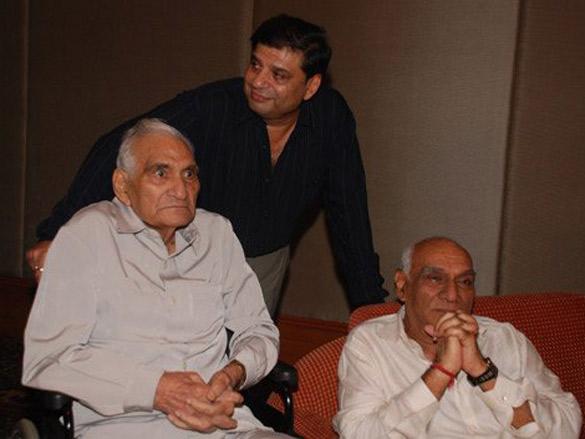 Photo Of B R Chopra,Ravi Chopra,Yash Chopra From The Audio Release Of Naya Daur