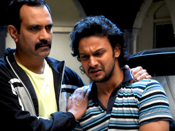 Movie Still From The Film Stand By,Manish Choudhary,Adinath Kothare