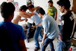 On The Sets Of The Film Not A Love Story Featuring Mahie Gill,Deepak Dobriyal,Ajay Gehi,Urmila Matondkar,Zakir Hussain,Neil Bhoopalam,Darshan Jariwala,Ganesh Yadav,Rasika Joshi