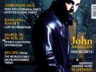 John Abraham On The Cover Of The Man,Oct 2011