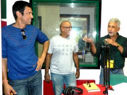 Photo Of Kay Kay Menon,Hriday Shetty,Naseeruddin Shah From The Team of 'Chaalis Chauraasi' at 98.3 FM Radio Mirchi