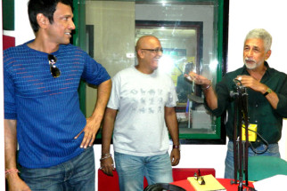 Photo Of Kay Kay Menon,Hriday Shetty,Naseeruddin Shah From The Team of 'Chaalis Chauraasi' at 98.3 FM Radio Mirchi