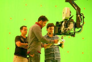 On The Sets Of The Film Toonpur Ka Superrhero Featuring Ajay Devgn,Kajol,Tanuja,Sanjay Mishra,Delnaz Paul,Mukesh Tiwari,Viveck Vaswani,Raza Murad,Shereveer Vakil,Amey Pandya