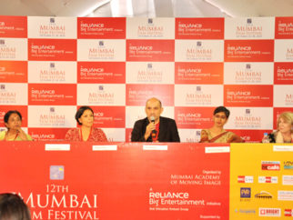 Photo Of Uma da Cunha,Konstnz Welz,Dev Benegal,Meenakshi Shedde,Theresse Hayes From The Open Forum taking place at 12th Mumbai Film Festival
