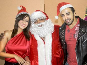 Photo Of Maddalsa Sharma,Ganesh Acharya,Nilesh Sahay From The Ganesh Acharya turns Santa to promote his film 'Angel'