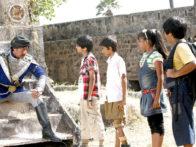Movie Still From The Film Bhoot And Friends,Jackie Shroff,Markand Soni,Tejas Rahate,Ishita Panchal,Akash Nair