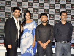 Photo Of Karan Johar,Sonakshi Sinha,Maneesh Sharma,Habib Faisal From The Sonakshi, Ranveer, Kiran Rao and Karan at FICCI-FRAMES 2011 seminar