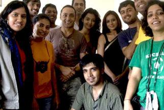 On The Sets Of The Film I Am Featuring Sanjay Suri,Radhika Apte,Shernaz Patel,Anurag Kashyap,Pooja Gandhi,Rahul Bose,Arjun Mathur,Abhimanyu Shekhar Singh,Nandita Das,Juhi Chawla,Manisha Koirala,Purab Kohli,Anurag Basu,Manav Kaul,Rushad Rana