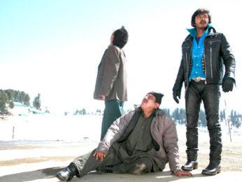 Movie Still From The Film Teen Thay Bhai,Deepak Dobriyal,Om Puri,Shreyas Talpade
