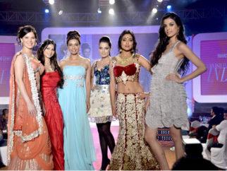 Photo Of Urvashi Sharma,Tanisha Mukherjee,Achla Sachdev,Celina Jaitly,Shriya Saran,Giselle Monteiro From The Shriya Saran, Celina, Kajol and Tanisha at Swarovski Gems event