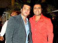Photo Of Ali Reza Khan,Vivek Sharma From The Ajay Devgn at Ali Reza Khan's 'Sheesha Sky Lounge Gold's' launch