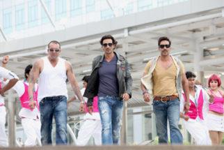 Movie Still From The Film Rascals,Sanjay Dutt,Arjun Rampal,Ajay Devgn