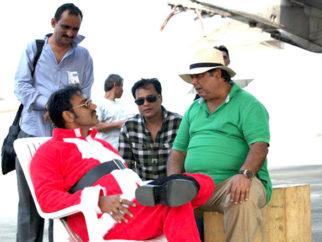 On The Sets Of The Film Rascals Featuring Ajay Devgn,Sanjay Dutt,Kangna Ranaut,Arjun Rampal,Chunky Pandey,Satish Kaushik,Lisa Haydon,Hiten Paintal,Mushtaq Khan