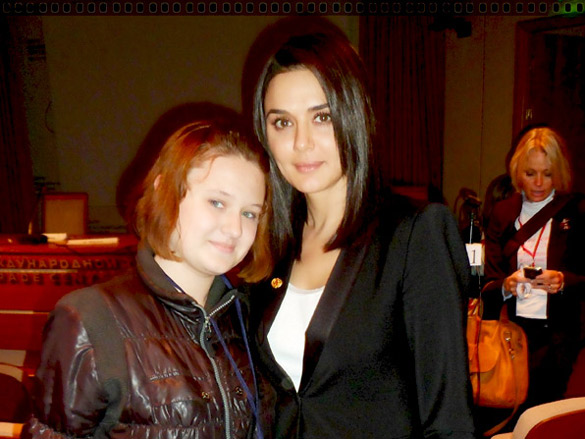 Photo Of Nelly,Preity Zinta From The Preity at the International Forum in Moscow