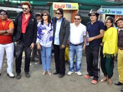 On The Sets Of The Film Dal Mein Kuch Kala Hai Featuring Raja Chaudhary,Veena Malik,Irfan Malik,Vijay Raaz,Shakti Kapoor,Ali Hassan,Kishore Bhanushali,Jackie Shroff,Bobby Darling,Anil Nagrath,Lilliput