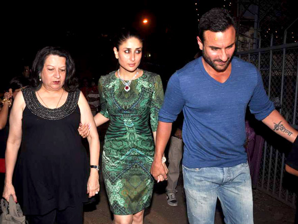 Photo Of Babita,Kareena Kapoor,Saif Ali Khan From The Saif, Kareena, Bipasha and Malaika at Xmas Midnight Mass