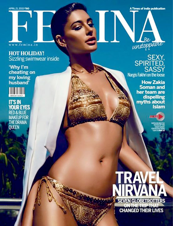 Nargis Fakhri On The Cover Of Femina,Apr 2015
