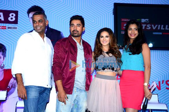 Aditya Swamy, Rannvijay Singh, Sunny Leone, Gaelyn Mendonca