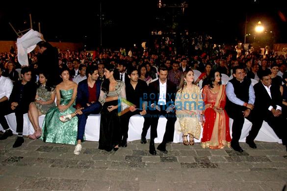 Alia Bhatt, Sidharth Malhotra, Katrina Kaif, Ayan Mukerji, Hrithik Roshan, Nita Ambani, Devendra Fadnavis, Mukesh Ambani
