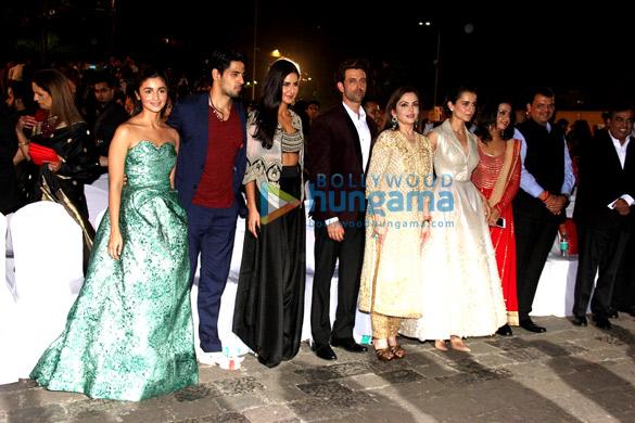 Alia Bhatt, Sidharth Malhotra, Katrina Kaif, Hrithik Roshan, Nita Ambani, Kangna Ranaut, Devendra Fadnavis, Mukesh Ambani