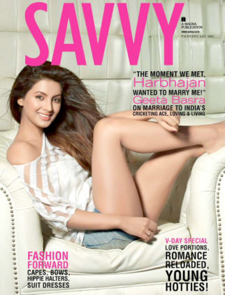 Geeta Basra On The Cover Of Savvy,Feb 2016