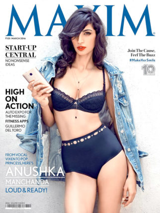 Anushka Manchanda On The Cover Of Maxim,March 2016