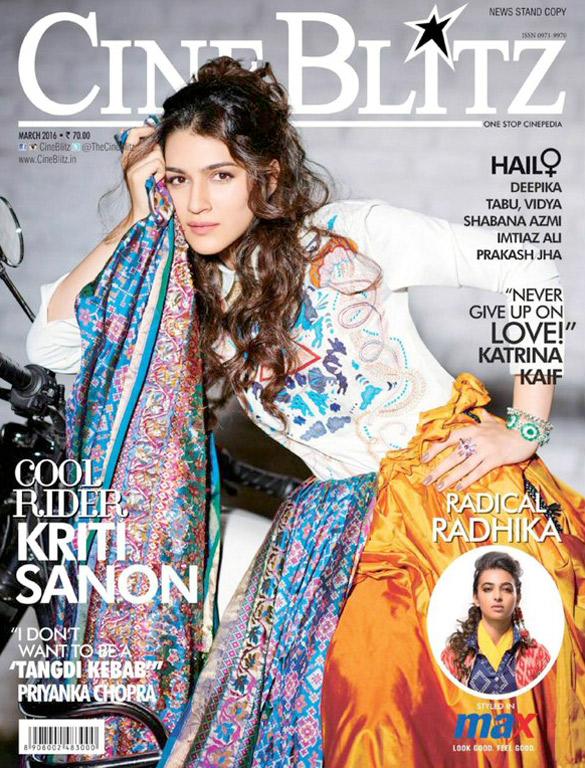 Kriti Sanon On The Cover Of Cine Blitz,Mar 2016