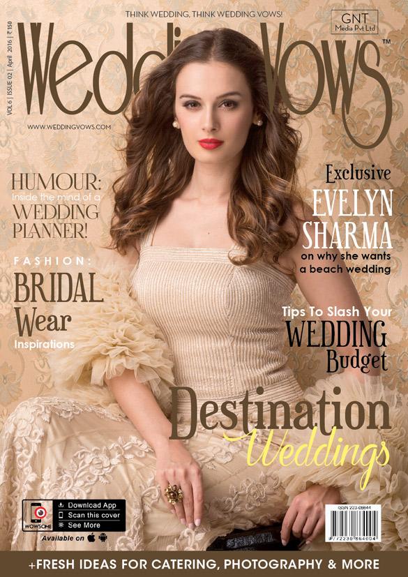 Parineeti Chopra On The Cover Of Wedding Vows,April 2016