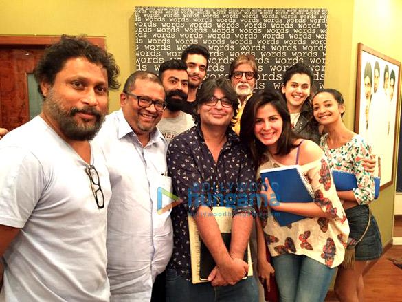 Shoojit Sircar, Aniruddha Roy Chowdhury, Ronnie Lahiri, Angad Bedi, Amitabh Bachchan, Kirti Kulhari, Tapsee Pannu, Andrea Tariang