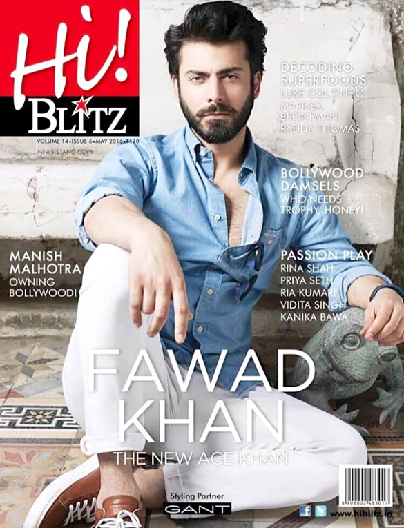 Fawad Khan On The Cover Of Hi! Blitz,May 2016