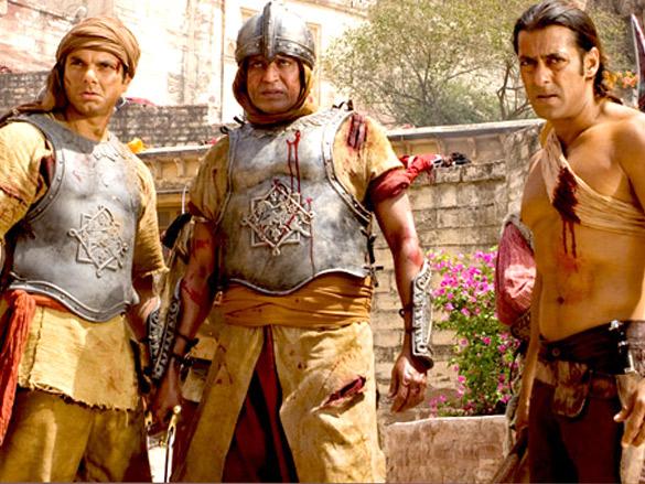 Movie Still From The Film Veer,Sohail Khan,Mithun Chakraborty,Salman Khan