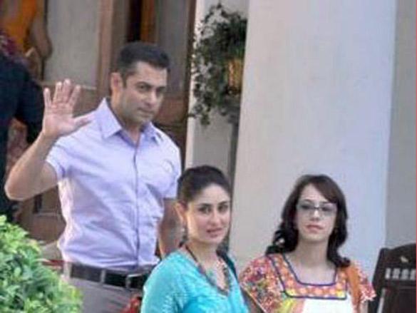 On The Sets Of The Film Bodyguard Featuring Salman Khan,Kareena Kapoor,Hazel Keech