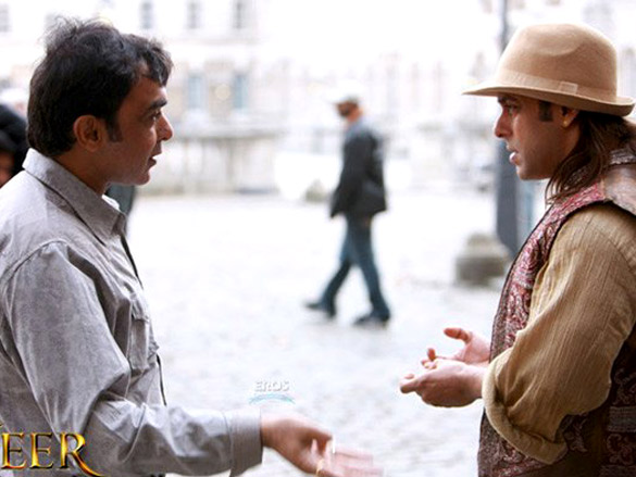 On The Sets Of The Veer (2009) Featuring Paresh Rawal,Salman Khan