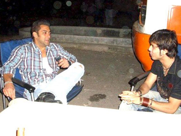 On The Sets Of The Film Wanted (2009) Featuring Salman Khan