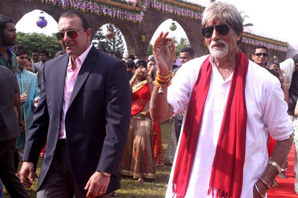 Movie Still From The Film Department,Sanjay Dutt,Amitabh Bachchan