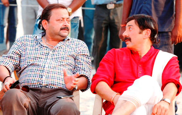 On The Sets Of The Film Mohalla Assi,Sunny Deol
