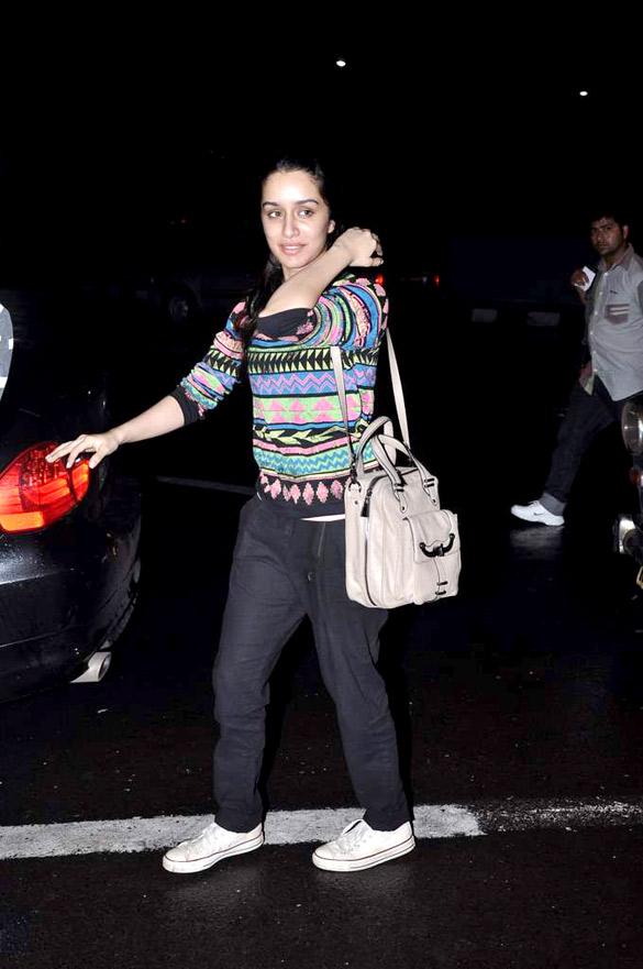 Madhur & Shraddha Kapoor snapped at Mumbai Airport